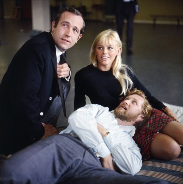 Ian Hendry, Roy Dotrice and Britt Ekland A Cold Peace Armchair Thaetre 1965