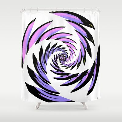 Tiger Tracks Purple Shower Curtain by Saundra Myles - $68.00