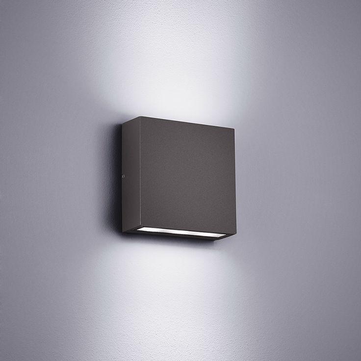 LED-buitenlamp Thames - aluminium/kunststof - zilverkleurig - 2 lichtbronnen