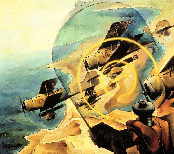 Tullio Crali (1910 - 2000) - Intercettando idrosiluranti inglesi (Intercepting British Torpedo Bombers), 1942