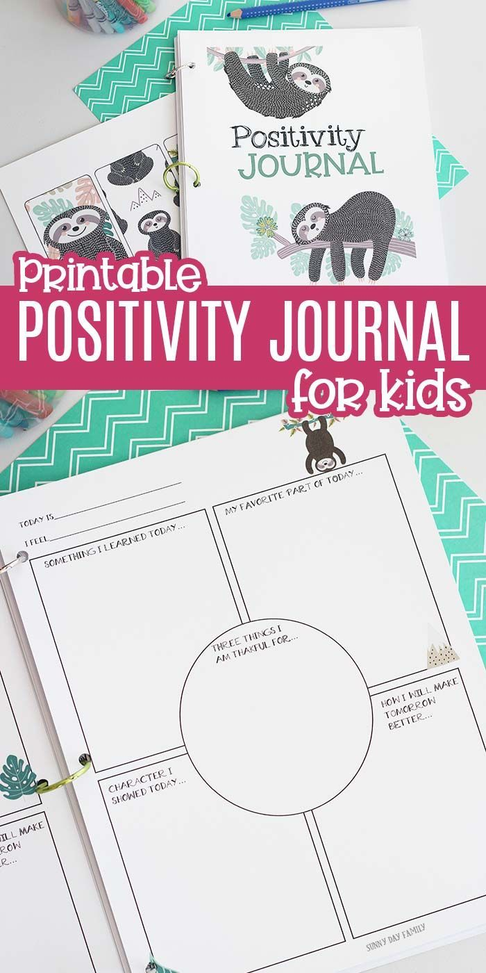 Printable Daily Positivity Journal for Kids to Encourage Gratitude & Happiness