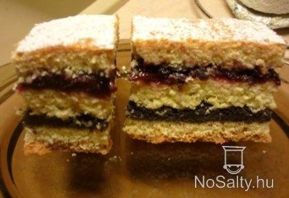 Három lapos meggyes-mákos süti