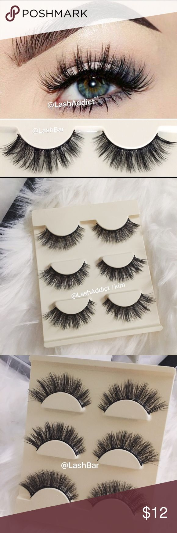 3 Pairs Mink Lashes 3D eyelashes lilly velour fur Long Flair Mink Lashes 3 pack mink  NO LID / comes with tray only  ❤️PRICE IS FIRM  ❤️OFFERS WILL BE IGNORED  Flutter wispies  •100% Real Mink Fur Strip Lashes •Handcrafted High Quality Lashes •Will last up to 25 applications, handle with care. •All pictures are mine @Lash Addict/Kim • 3 pairs mink eyelashes lashes  No Glue  ~ All orders placed after 3PM (EST) time will be shipped out the next day. All orders are processed within 1 business…