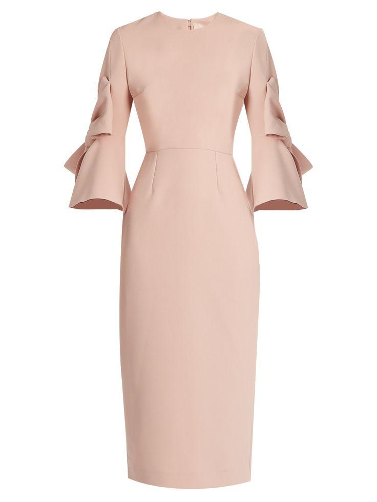 Lavete bow-sleeved crepe midi dress | Roksanda | MATCHESFASHION.COM UK
