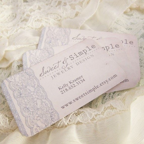 Designer Custom Business. Chic Vintage Lace. Days Gone By on Etsy.