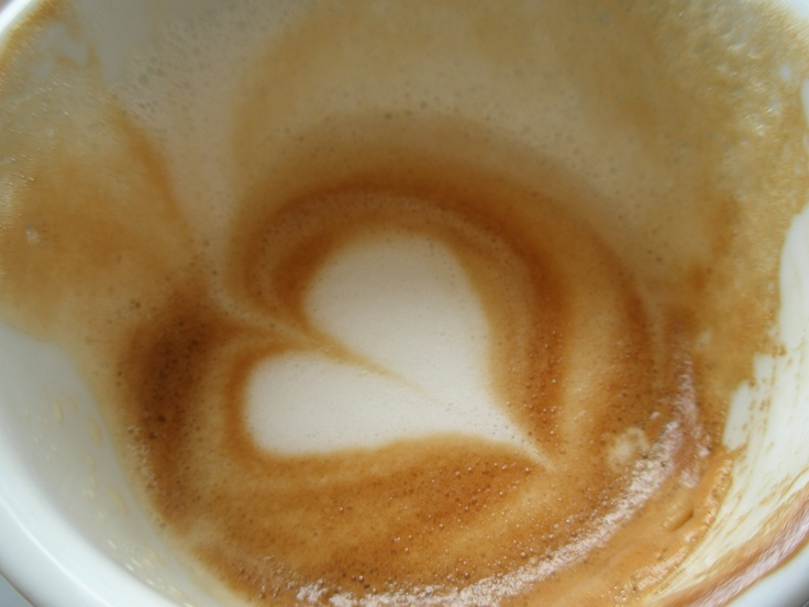 Love in the bottom of my coffee cup, Charing Cross London.