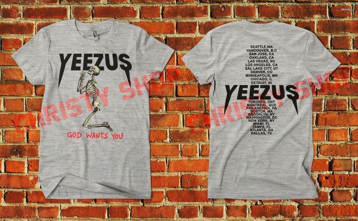 yeezus merchandize shirt kanye west merch clothing praying pray skeleton yeezy #Unbranded #PrintedShirt #weslang #WeslangArt
