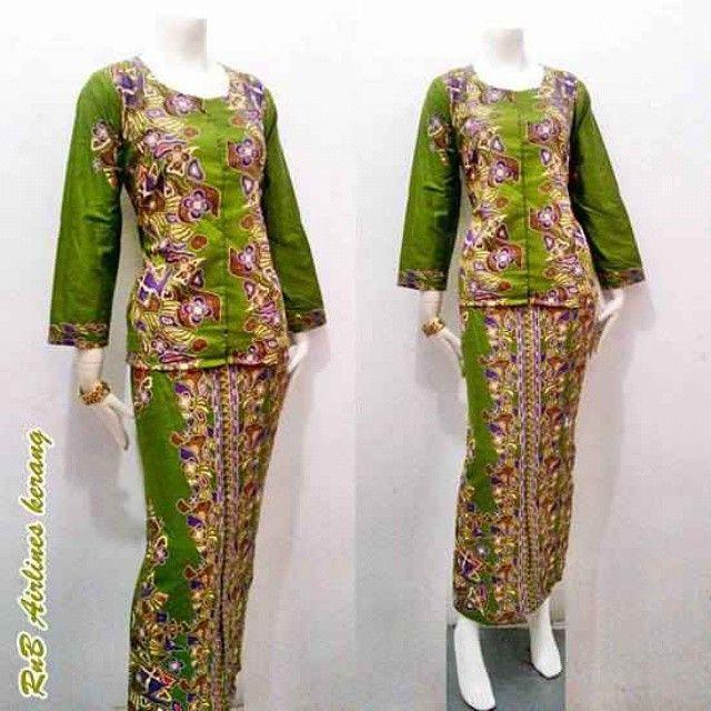 Model baju batik kerja motif kerang