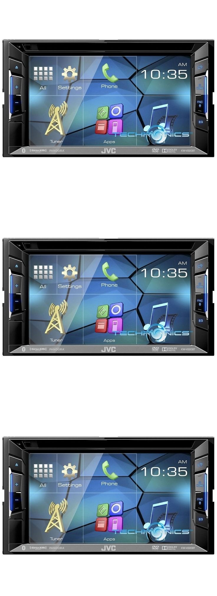 Vehicle Electronics And GPS: Jvc Kw-V220bt 6.2 Touchscreen Bluetooth Dvd Usb Cd Iphone Car Stereo Player -> BUY IT NOW ONLY: $199.95 on eBay!