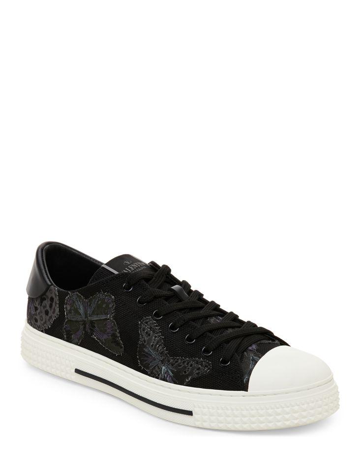 Valentino Garavani Black Camubutterfly Low Top Sneakers