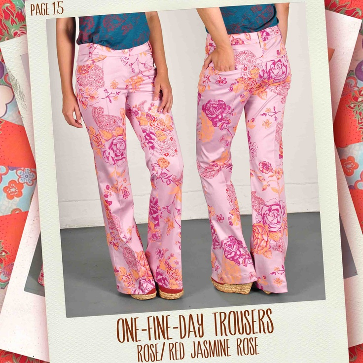 One-Fine-Day trousers in Rose/ red Jasmine Rose