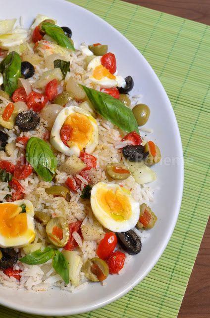Hiperica di Lady Boheme: Insalata di riso basmati con pomodori datterini e uova sode