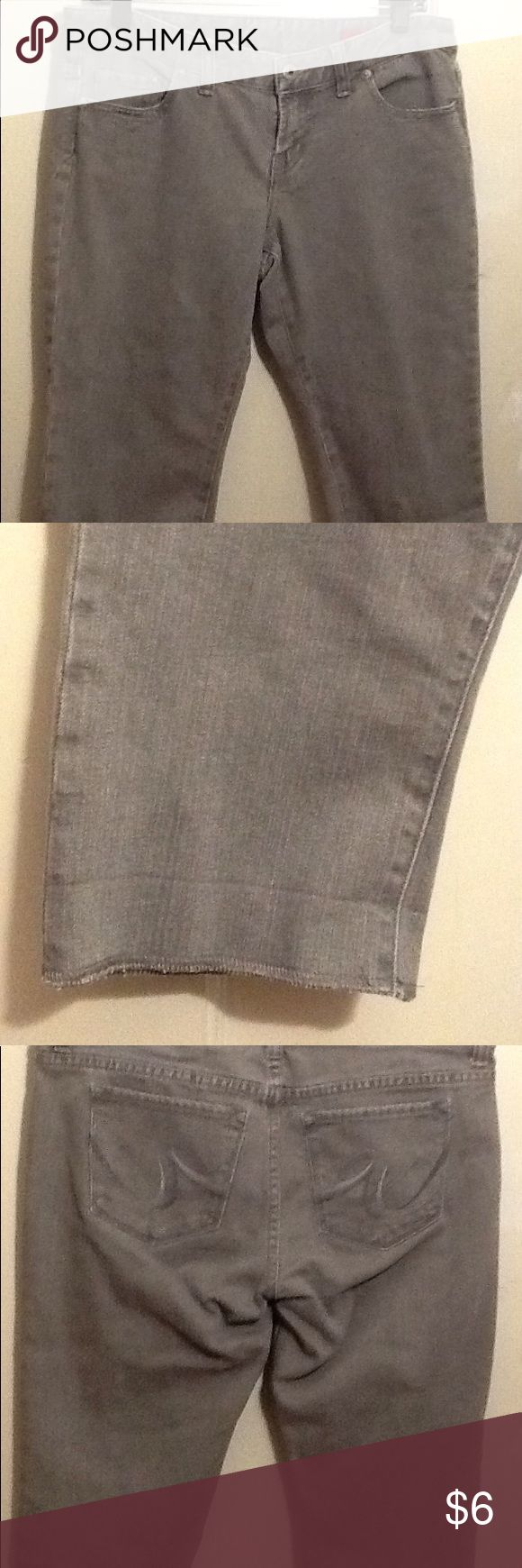 Women's short's These are women's cut off style long Jean short's. They are grey. X2 Shorts Jean Shorts