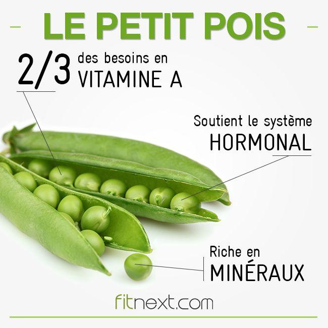 A cheval entre légume et légumineuse, le petit pois couvre une bonne partie de vos besoins en vitamine A et est aussi source de protéines #fitfood #freshfood