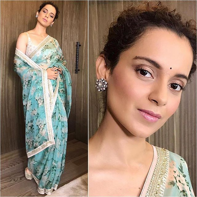 Kangana Ranaut   Sari - @sabyasachiofficial   Styled by - @stylebyami @shnoy09   #bollywood #style #fashion #beauty #bollywoodstyle #bollywoodfashion #indianfashion #celebstyle #instastyle #instastyle #celebrityfashion #afashionistasdiaries #kanganaranaut #sabyasachi