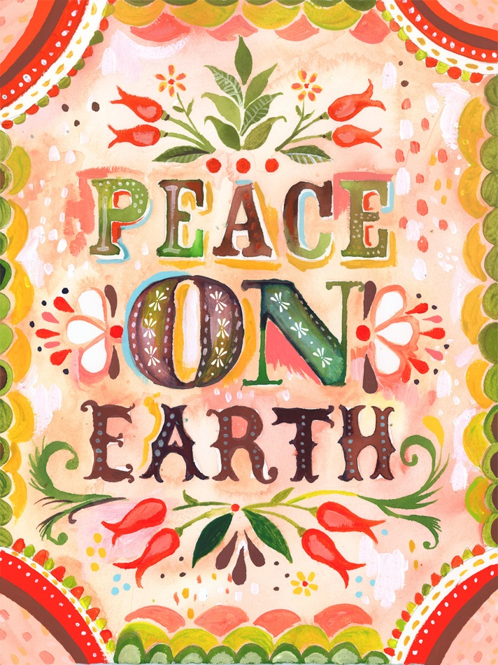 peace on earth watercolor