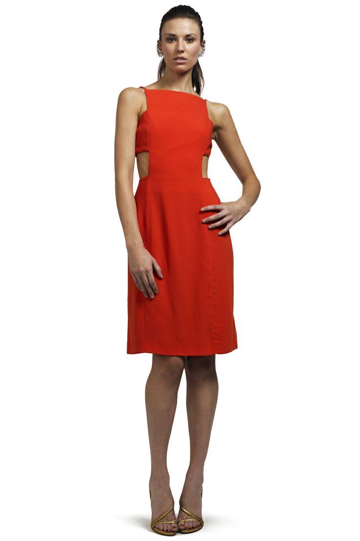 Vermilion Cut Out Dress - Clothing - CATEGORIES - SHOP | PinkClouds | Vintage Fashion