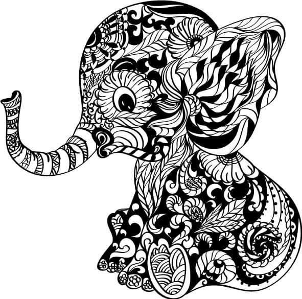 Pin By Al On Papercuts Elephant Coloring Page Mandala Elephant