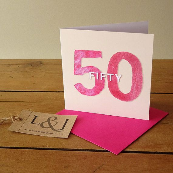 1000+ Ideas About 50th Birthday Cards On Pinterest