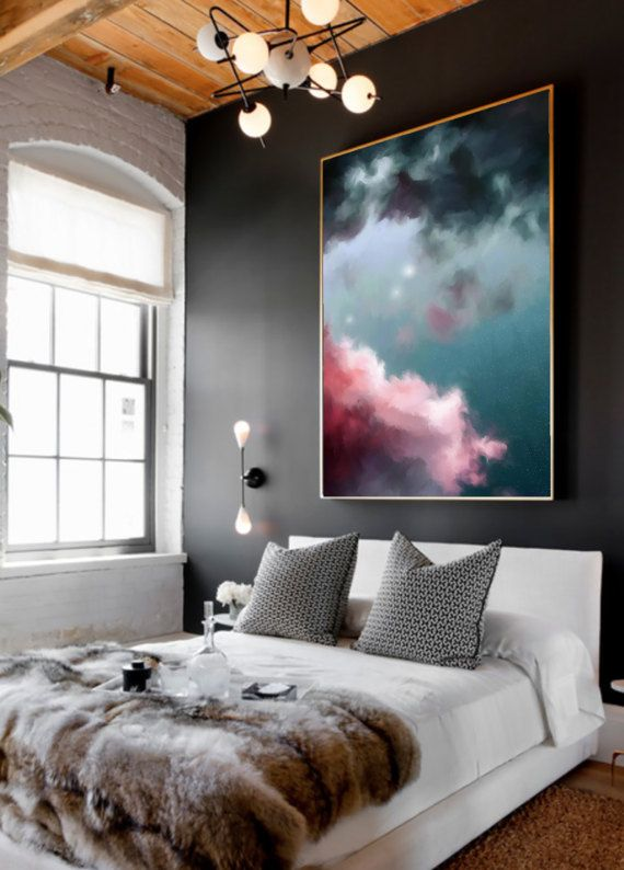 Cloud Painting Abstract Art Print Abstract Giclee Green