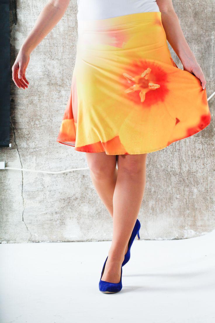Beautyful sunny skirt - designed by Jeanette Nilssen. Inspired by the Norwegian nature.