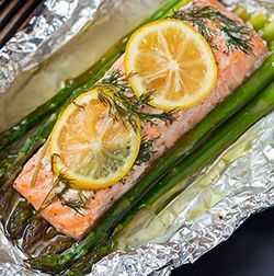salmon-and-aspargus... Replace butter with olive oil for whole 30
