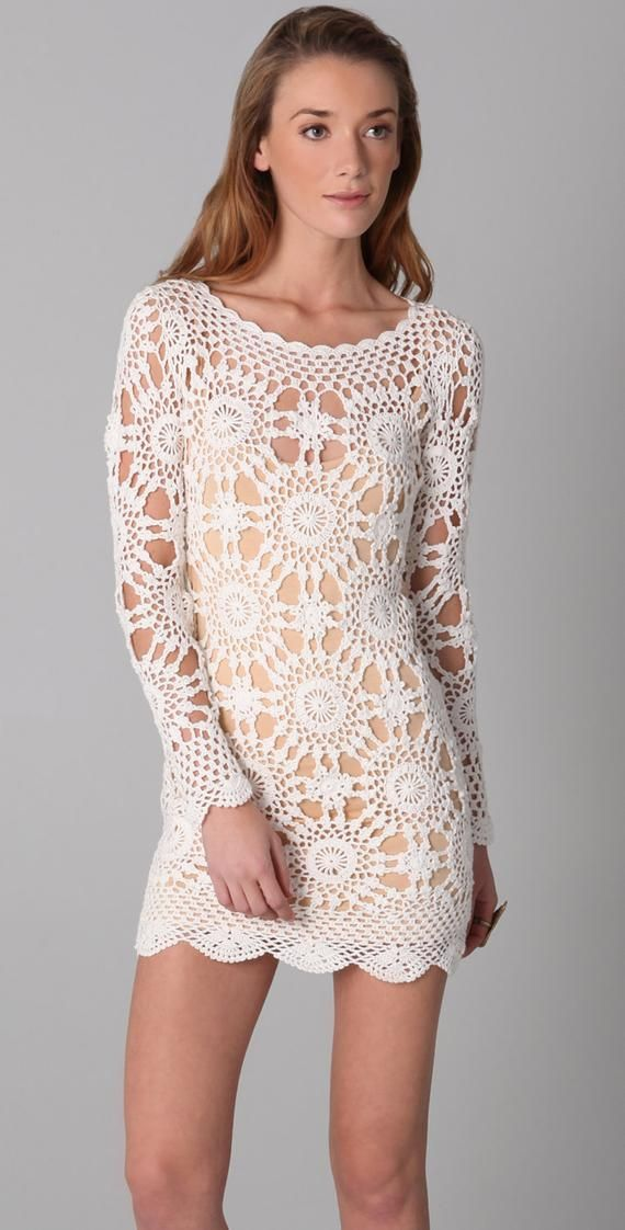Crochet dress PATTERN, detailed tutorial in ENGLISH, designer trendy crochet dress pattern, Eternal Sunshine Creations crochet dress pattern – Cynthia Schippers