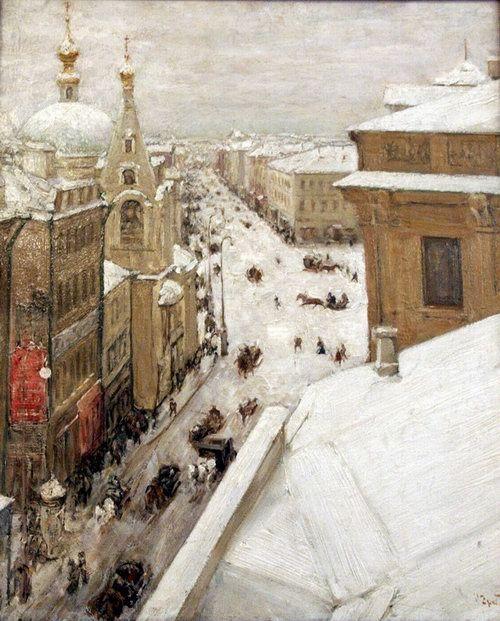 Igor Grabar - Tverskaya Street, 1880th