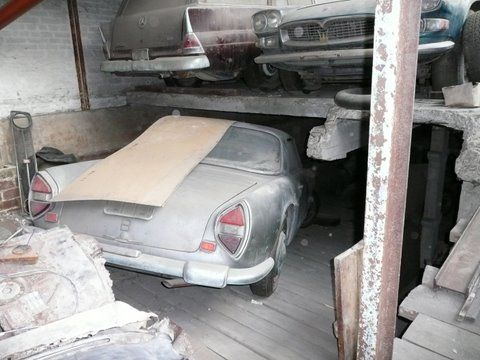 Lancia Flaminia And Maserati Barnfinds Pinterest More Maserati Barn Finds And Abandoned