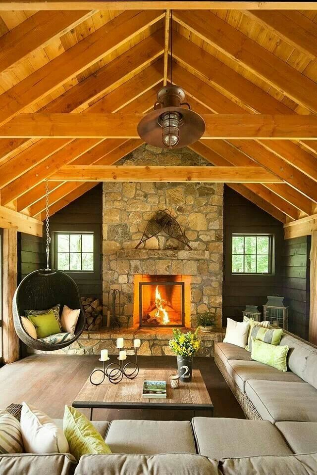 Not crazy about the maple colored wood, but the other colors in this living room are quite calming.