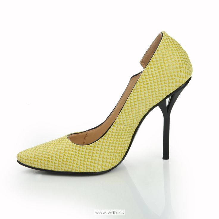 3.5 inch Yellow Embossed PU shoes $41.98