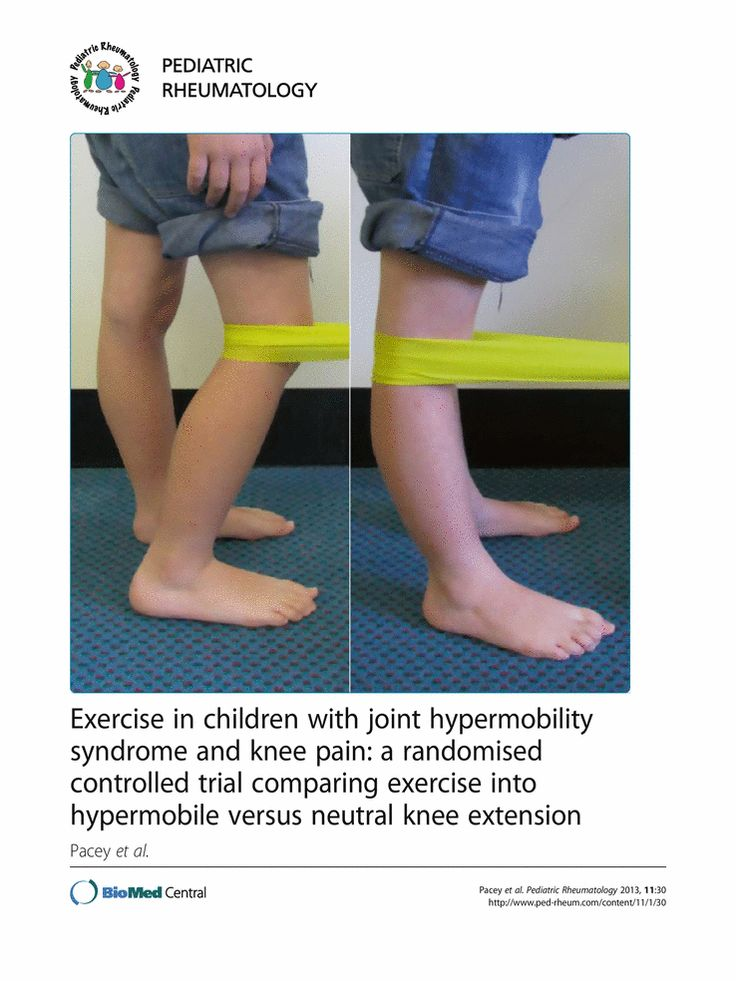 Exercise in children with joint hypermobility syndrome and ...