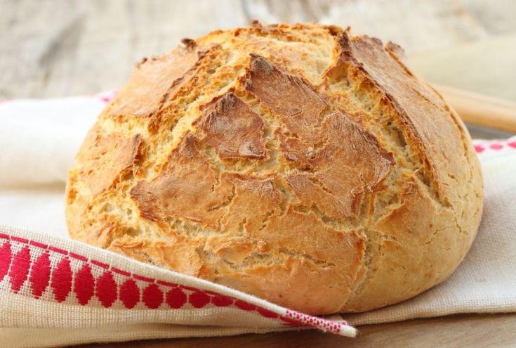 Cea mai simpla reteta de paine facuta acasa. Nu are nevoie de framantare - www.foodstory.ro