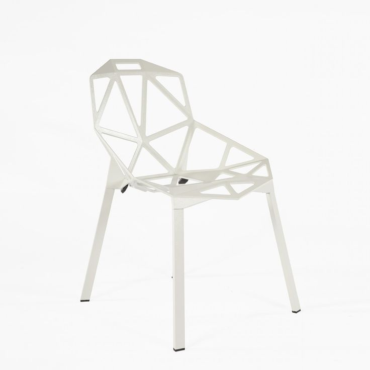 Chair One Stacking Modern Side Chair - White Inspired by Konstantin Grcic