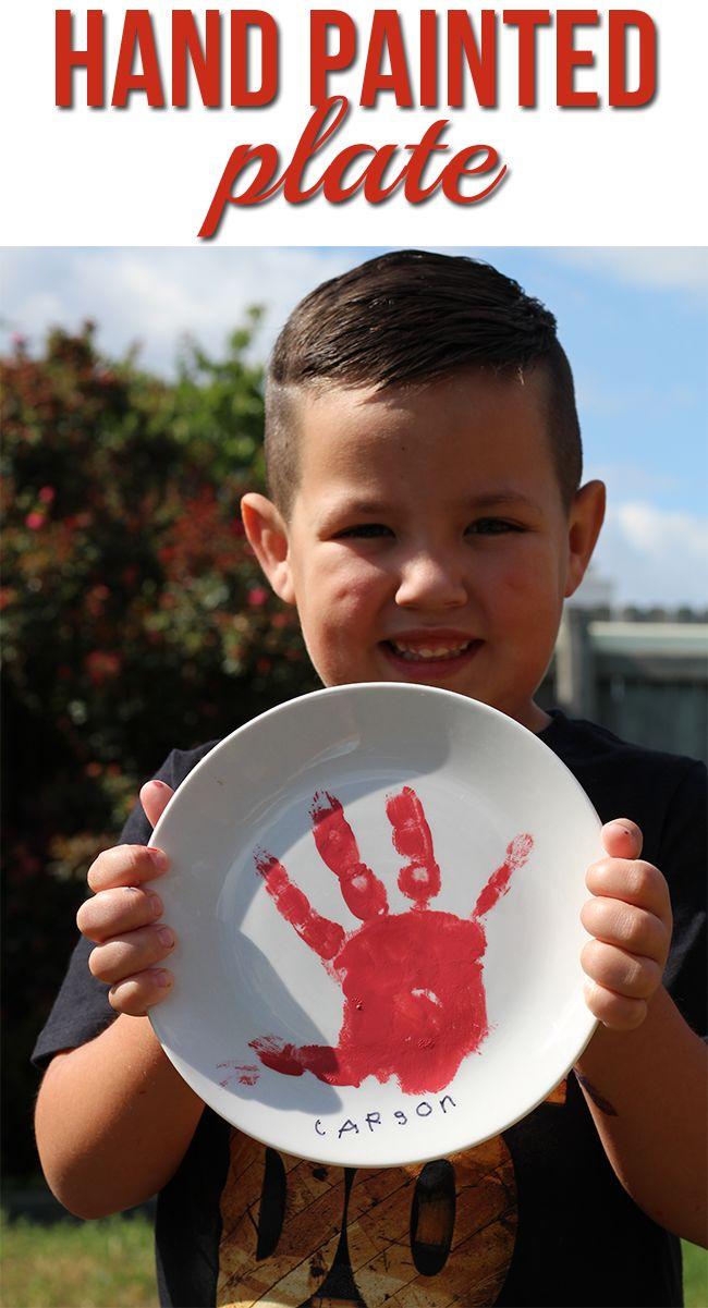 DIY Hand Painted Plate #KidfreshFavorites  #ad @krogerco @kidfreshfoods