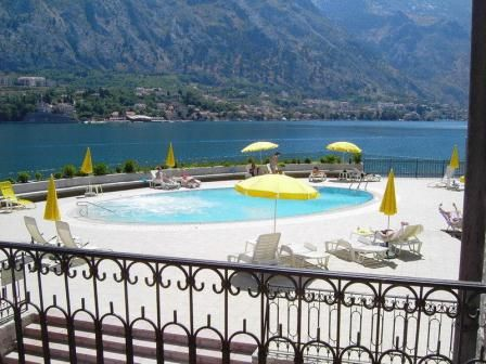 Hotel Splendido is a waterfront hotel in Prcanj in the beautiful Bay of Kotor. Great views from the pool! #montenegro #prcanj