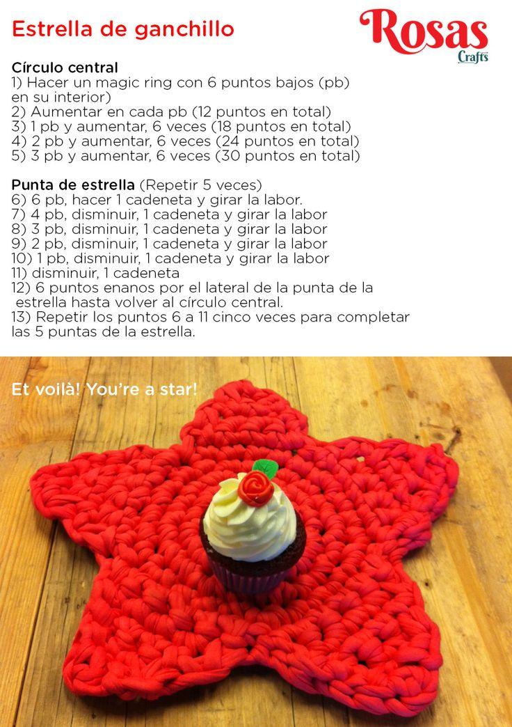 Estrella de ganchillo / trapillo, by Rosas Crafts
