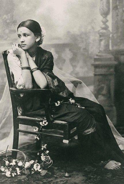 Indian girl antique