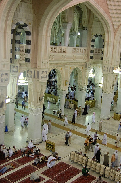 Interior of Al-Masjid al-Ḥarām (The Sacred Mosque)