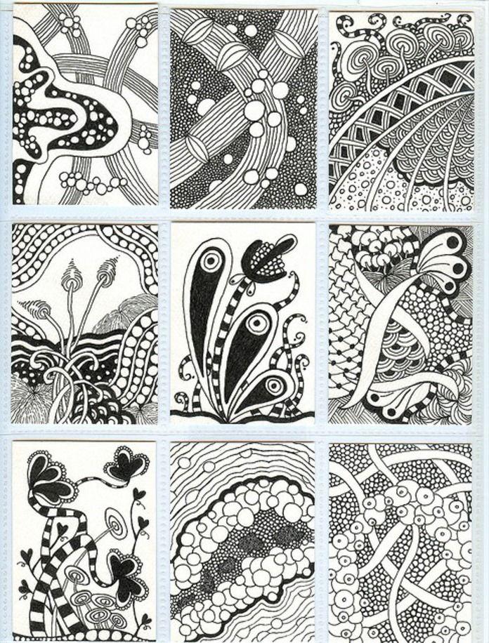 Zentangle Patterns Ideas Zentangle Art Pinterest