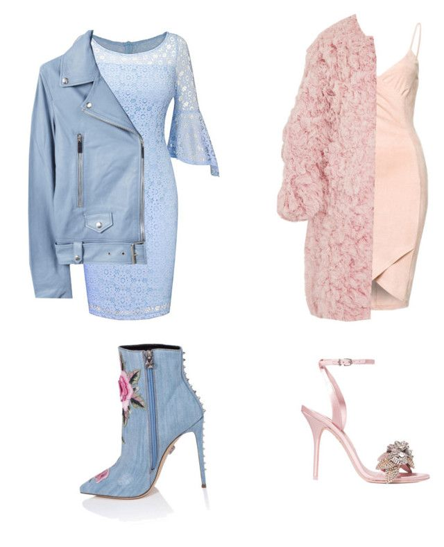 """""""pink vs blue"""" by lexi5808 ❤ liked on Polyvore featuring Sophia Webster, Marni and MANGO"""