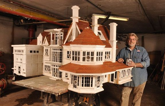 A Thomas F. Burke installation-in-progress of a magnificent birdhouse at the George Lucas Skywalker Ranch, April 2011.