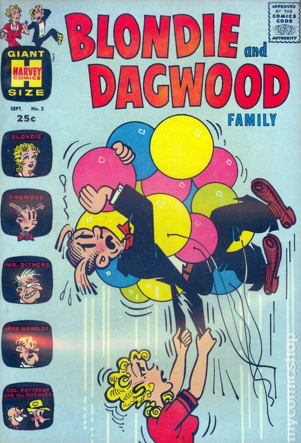 Blondie and Dagwood Family (1963) #2 vintage 25¢ comic book.