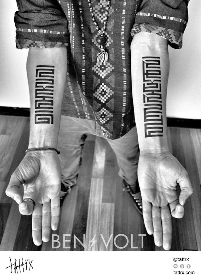 Ben Volt, tattoos, San Francisco, blackwork #tattoo #ink