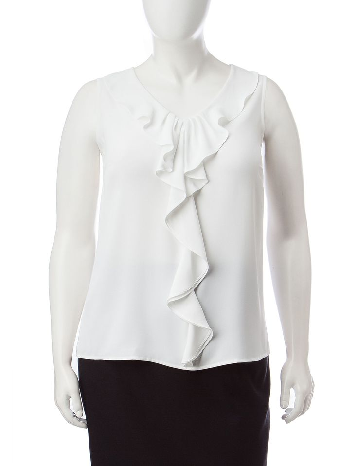 Shop today for Kasper Plus-size Ruffled Front Blouse & deals on Suits & Suit Separates! Official site for Stage, Peebles, Goodys, Palais Royal & Bealls.
