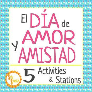 """Students complete a variety of stations and activities to learn about Da de Amor y Amistad. Stations focus on novice level grammar and vocabulary skills, to celebrate the holiday! Print and go stations are ready for your students to explore! Stations Include:Terms of Endearment- Locker Notes/CardsMi Perfil PersonalTengo Tu Love -Cloze + Listening*El Da de Amor y Amistad- Listening Activity """"Pick Up Lines""""*Matching Conversation Hearts- Q/A*require access to a device to listen or watch the…"""