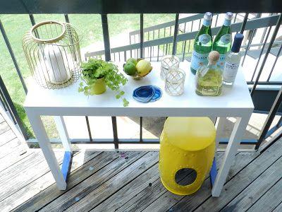 Balcony decor, DIY outdoor bar, outdoor spaces, apartment balcony