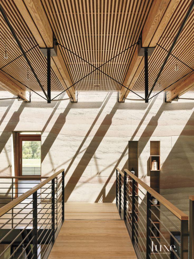 Modern Neutral Hall With Geometric Detail Japanese Home DesignJapanese HouseInterior Design MagazineConcrete