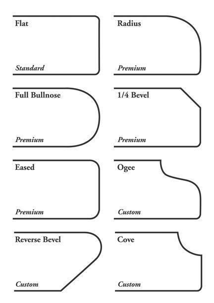 Countertop edge profilesCountertops Kitchens, Countertops Ideas, Kitchens Design, Counter Edging, Countertops Edging, Interiors Design, Counter Tops, 0401 Profile04 Jpg, Edging Profile