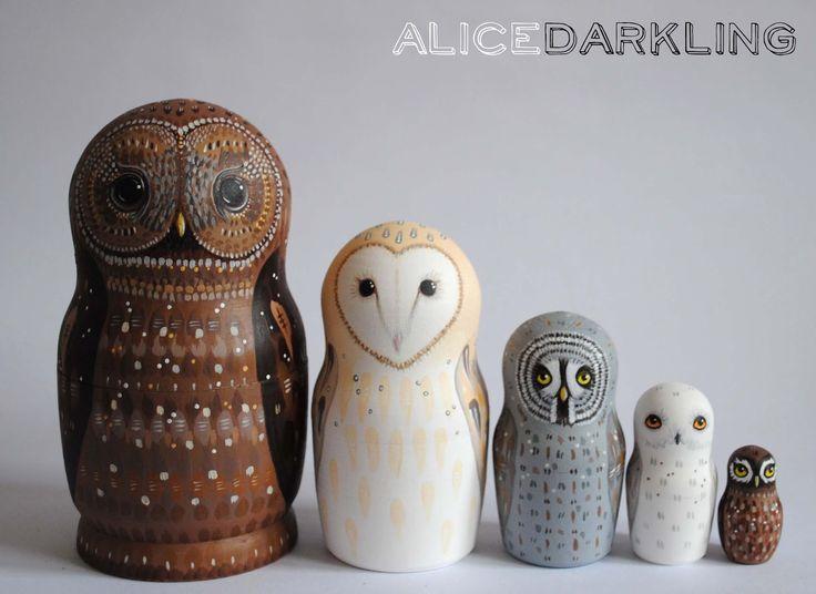 Alice Darkling: More owl nesting dolls! (russian / matryoshka ...